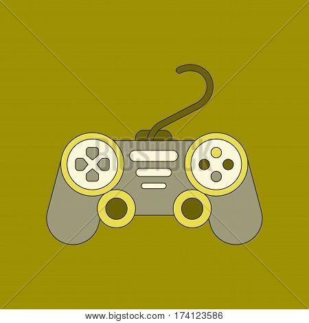 flat icon on stylish background game joystick