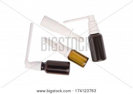 Medical spray on a white background isolation
