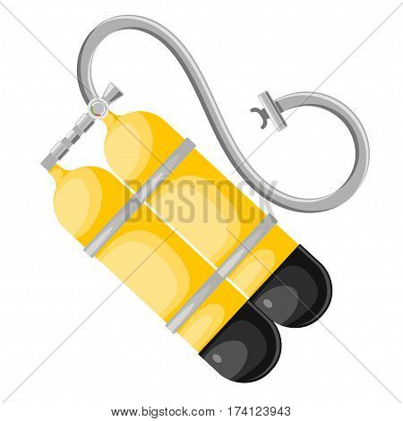 Abstract illustration of scuba. Vector aqualung in Cartoon style on a white background. Stock vector illustration