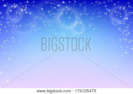 Abstract background with glowing particles. Vector background of falling snow. Stock vector illustration