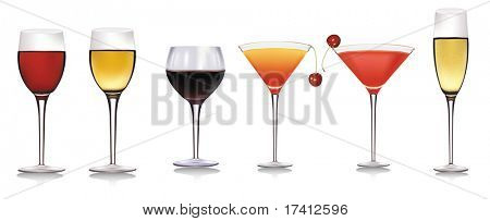 Drink collection. Vector illustration