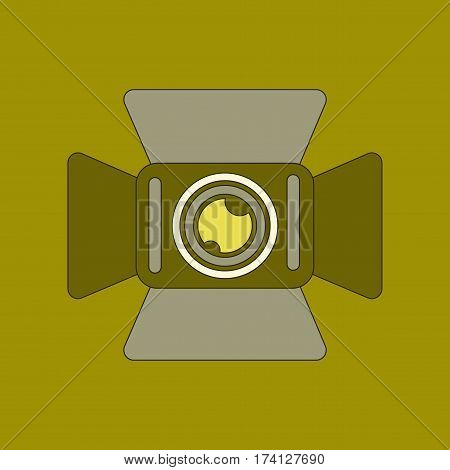 flat icon on stylish background technology camcorder
