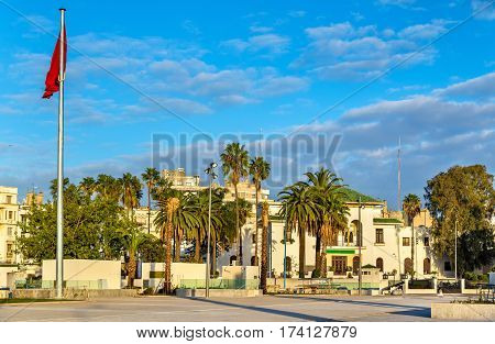 Square of Mohammed V in Casablanca in Morocco