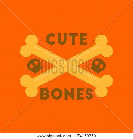 flat icon on stylish background of cross bones