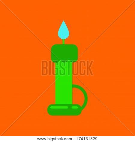flat icon on stylish background of wax candle