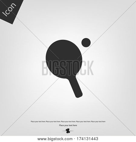 Ping Pong table tennis icon, gray background. Vector illustration.