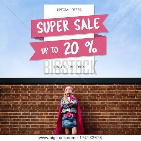 Super Sale Price Discount Concept