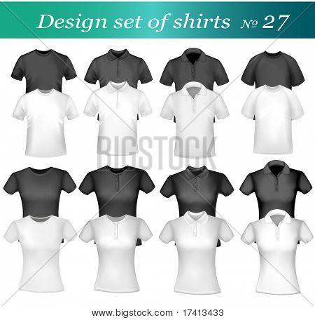 Twenty-six design shirt set. Vector.