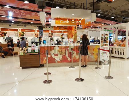 CHIANG RAI THAILAND - MARCH 1 : Department store interior view with aisle at Central Plaza department store on March 1 2017 in Chiang rai Thailand