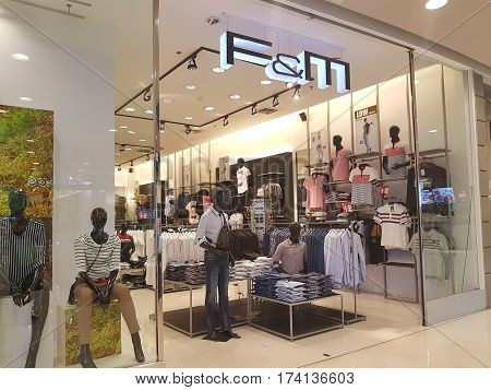 CHIANG RAI THAILAND - MARCH 1 : Department store interior view with F&M shop at Central Plaza department store on March 1 2017 in Chiang rai Thailand