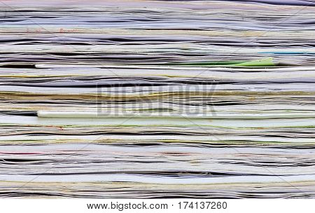 close-up of old colorful notebook spine background