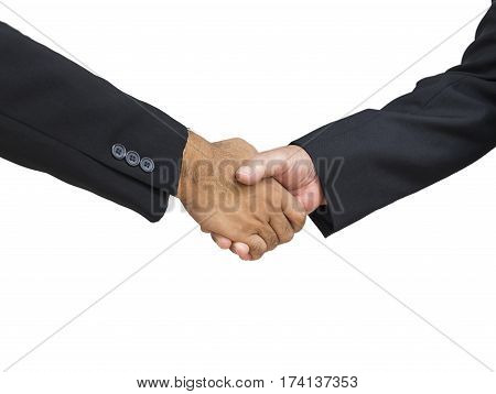 abstract businessman shakehand for commit on isolate background - can use to display or montage on product
