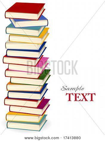 Stapel von bunten Bücher. Vektor-Illustration.