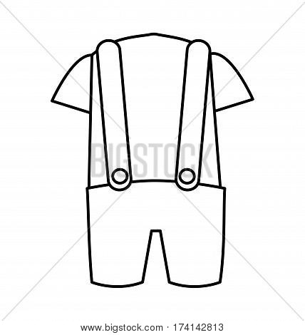 australian typical clothes male vector illustration design