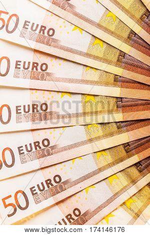 Euro Currency Fan Detail