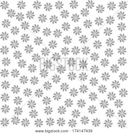 gray flowers. grey floret. silver petals. white background. vector illustration