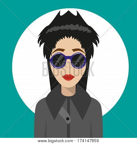 Girl. Fashion. Informal. Flat Avatar. For Your Design.