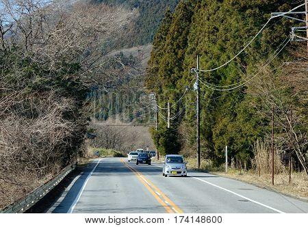 Mountain Road In Nikko, Japan