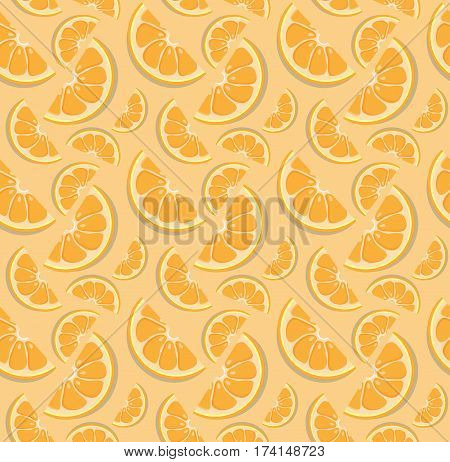 Vector Orange Pattern.