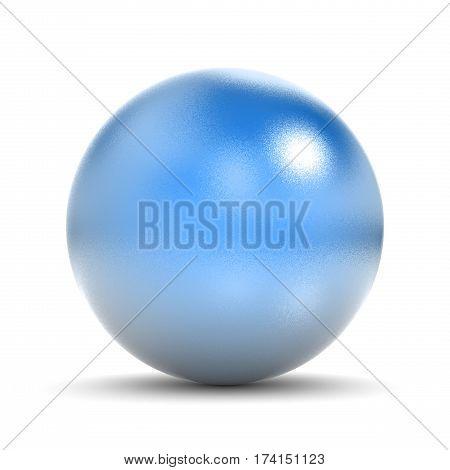 Blue Metallic Sphere