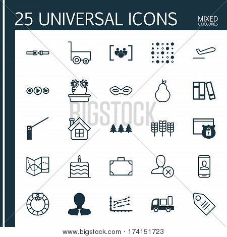 Set Of 25 Universal Editable Icons. Can Be Used For Web, Mobile And App Design. Includes Elements Such As Roadblock, Manager, Portfolio And More.