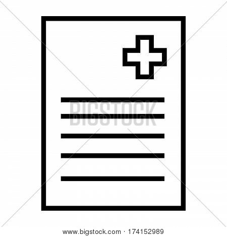 simple thin line med records icon vector