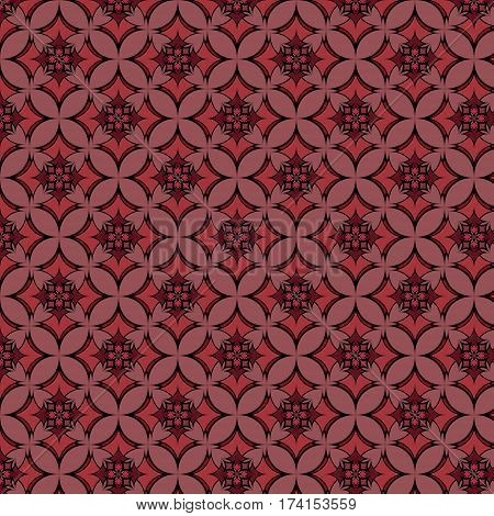 Geometric seamless pattern of rhombus in purple and vinous colours