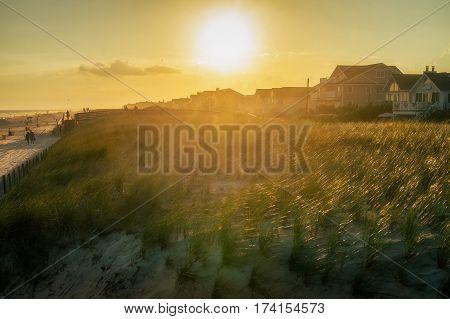 NYC - Brighton beach sunset at summer sunset