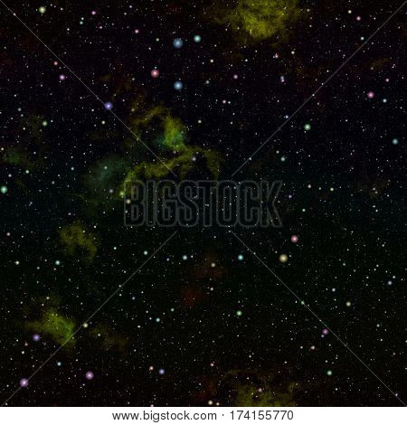 Abstract dark glittering universe, Nebula night starry sky, Shiny outer space, Galactic texture background,