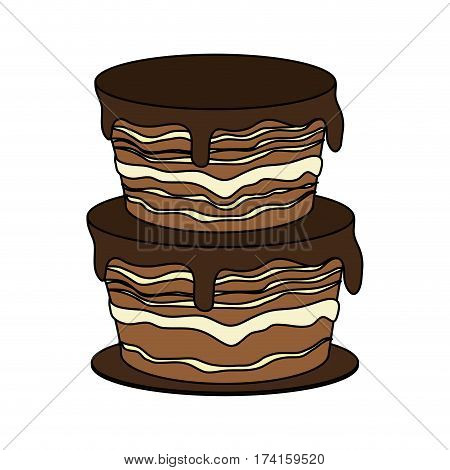 chocolate cake pastry icon image pastry icon image vector illustration design