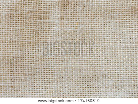Natural sackcloth fabric texture use for background