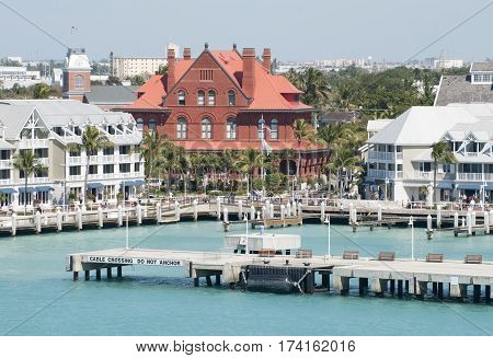 The view of Key West the southernmost town in the United States (Florida).