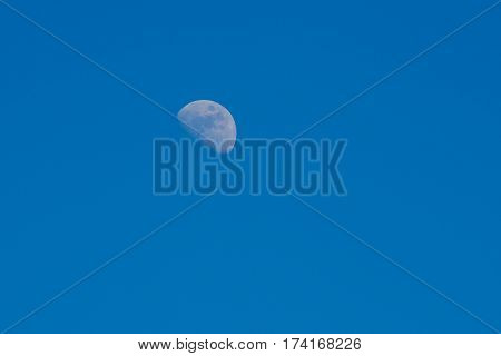 Beautiful moon in the midle of the day