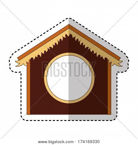 stable manger isolated icon vector illustration design