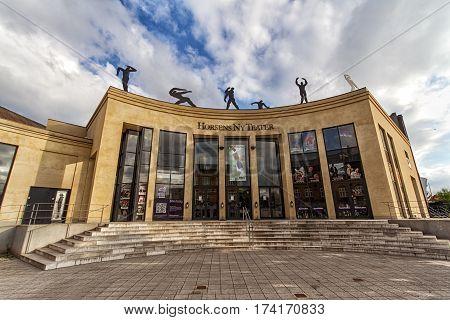 HORSENS DENMARK - JUNE 11: The theater of Horsens in 2012