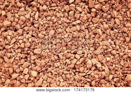 Instant granulated coffee close up. Texture and background