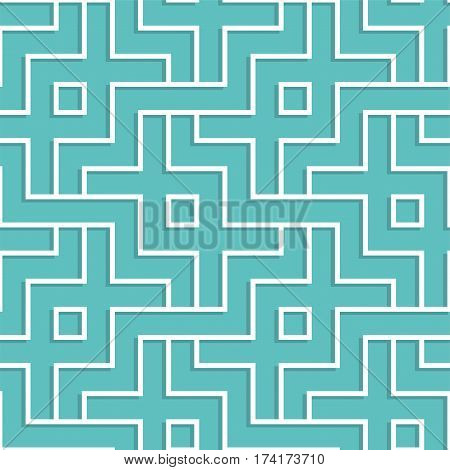 Interlaced White Geometric Pattern. Interlocking Seamless Vector Background.