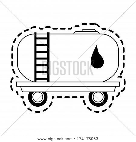 cistern truck oil industry icon image vector illustration design