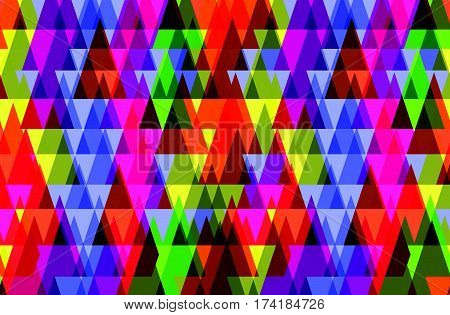 Pattern of geometric shapes.Texture with flow of spectrum effect. Geometric background