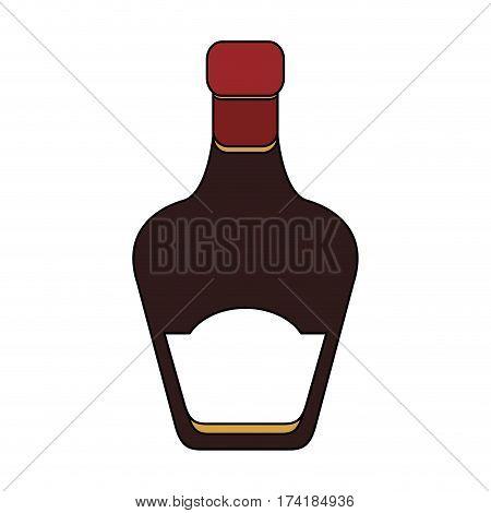 tinted glass liquor bottle icon image vector illustration design