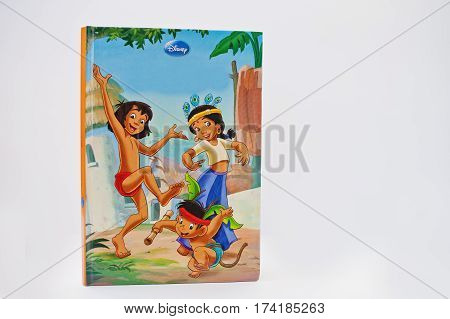 Hai, Ukraine - February 28, 2017: Animated Disney Movies Cartoon Production Book The Jungle Book 2 O
