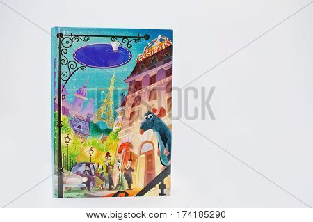 Hai, Ukraine - February 28, 2017: Animated Disney Pixar Movies Cartoon Production Book Ratatouille O
