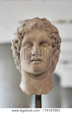 Portrait statue of the Alexander the great.