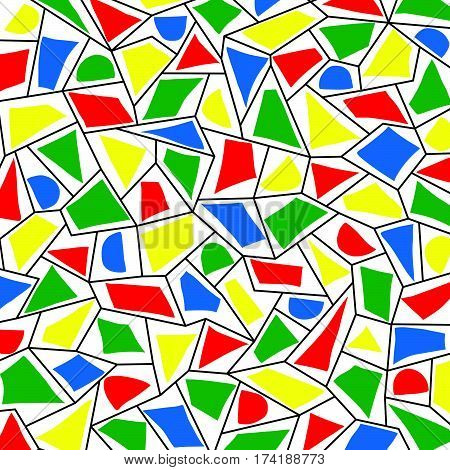 The abstract geometric pattern as a background