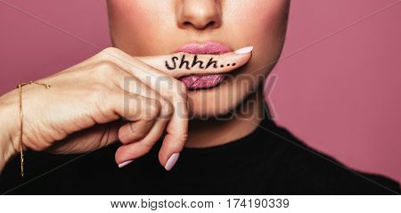 Woman Asking For Silence