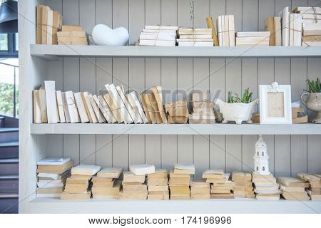Bookshelf Books Education Knowledge Study