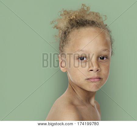 Caucasian Little Boy Bare Chested Shoot
