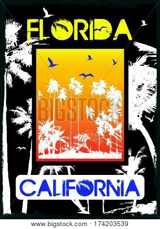 Florida summer tee graphic design  fashion style