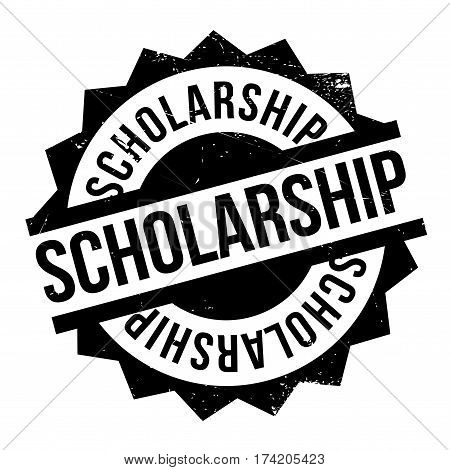 Scholarship rubber stamp. Grunge design with dust scratches. Effects can be easily removed for a clean, crisp look. Color is easily changed.