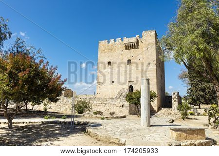 The medieval castle of Kolossi near Limassol in Cyprus